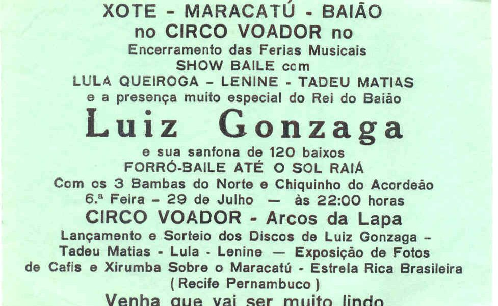 Lenine e Luiz Gonzaga   Circo Voador